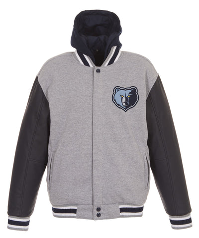Memphis Grizzlies Reversible Fleece and Faux Leather Jacket
