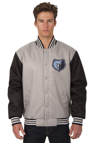 Memphis Grizzles Poly-Twill Jacket (Front and Back Logo)