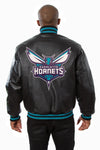 Charlotte Hornets Full Leather Jacket