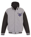 Charlotte Hornets Reversible Fleece and Faux Leather Jacket