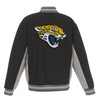 JACKSONVILLE JAGUARS JH DESIGN WOOL REVERSIBLE FULL-SNAP JACKET – BLACK