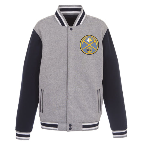 Denver Nuggets Reversible Fleece Jacket (Front Logos Only)