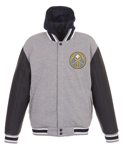 Denver Nuggets Reversible Fleece and Faux Leather Jacket