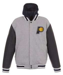 Indiana Pacers Reversible Fleece and Faux Leather Jacket