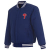 PHILADELPHIA PHILLIES REVERSIBLE WOOL JACKET - ROYAL