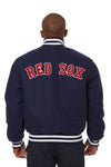 BOSTON RED SOX EMBROIDERED WOOL JACKET - NAVY