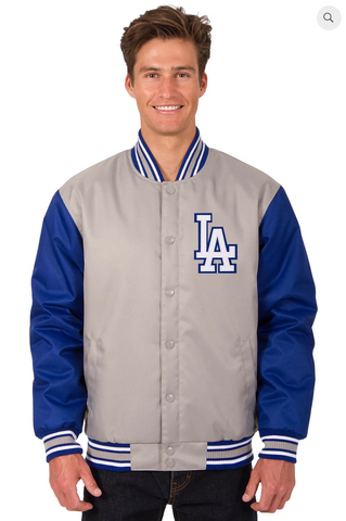 Los Angeles Dodgers Poly-Twill Varsity Jacket with Front Logo