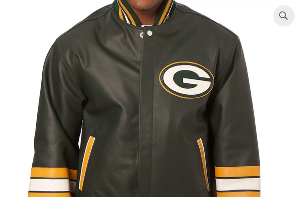 Dave Robinson- Green bay Packer, Leather Jacket