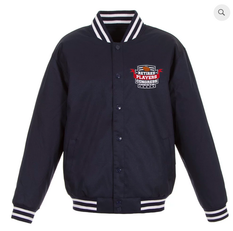 Players Congress Navy Poly-Twill Varsity with Front Logo