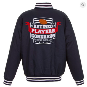 Players Congress Navy Poly-Twill Varsity with Front & Back Logo