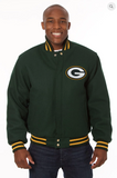 Greenbay Packers Wool Varsity Jacket with Back Logo