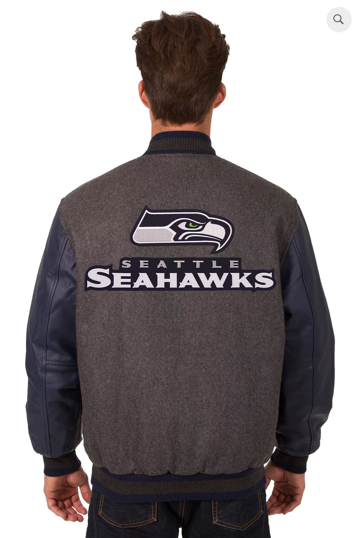 Seattle Seahawks Reversible Varsity Jacket with Back Logo
