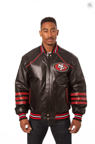 San Francisco 49ers Hand Crafted Leather Team Jacket