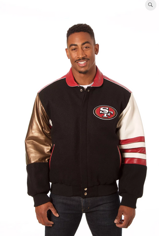 San Francisco 49ers Wool and Leather Classic Jacket