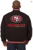 San Francisco 49ers All Wool Varsity Jacket with Back Logo