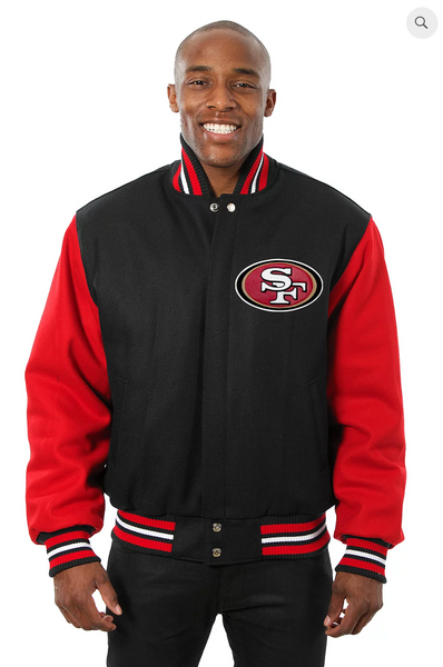 San Francisco 49ers All Wool Two Toned Jacket with Back Logo
