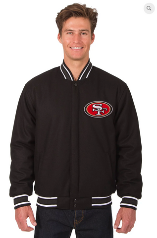 San Francisco 49ers Reversible Wool Varsity Jacket