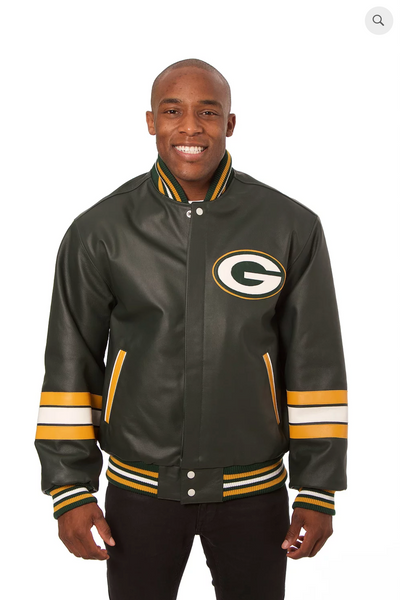 Green bay Packers Hand Crafted Leather Team Jacket