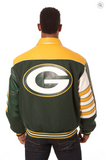 Greenbay Packers Wool and Leather Classic Jacket