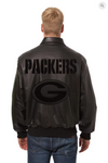 Green bay Packers Hand Crafted Leather Tonal Jacket