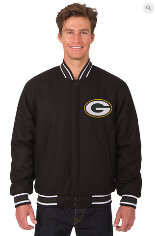 Green Bay Packers Reversible Wool Varsity Jacket
