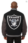 Oakland Raiders All Wool Two-Toned Jacket with Back Logo