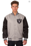 Oakland Raiders Poly-Twill Varsity with Back Logo