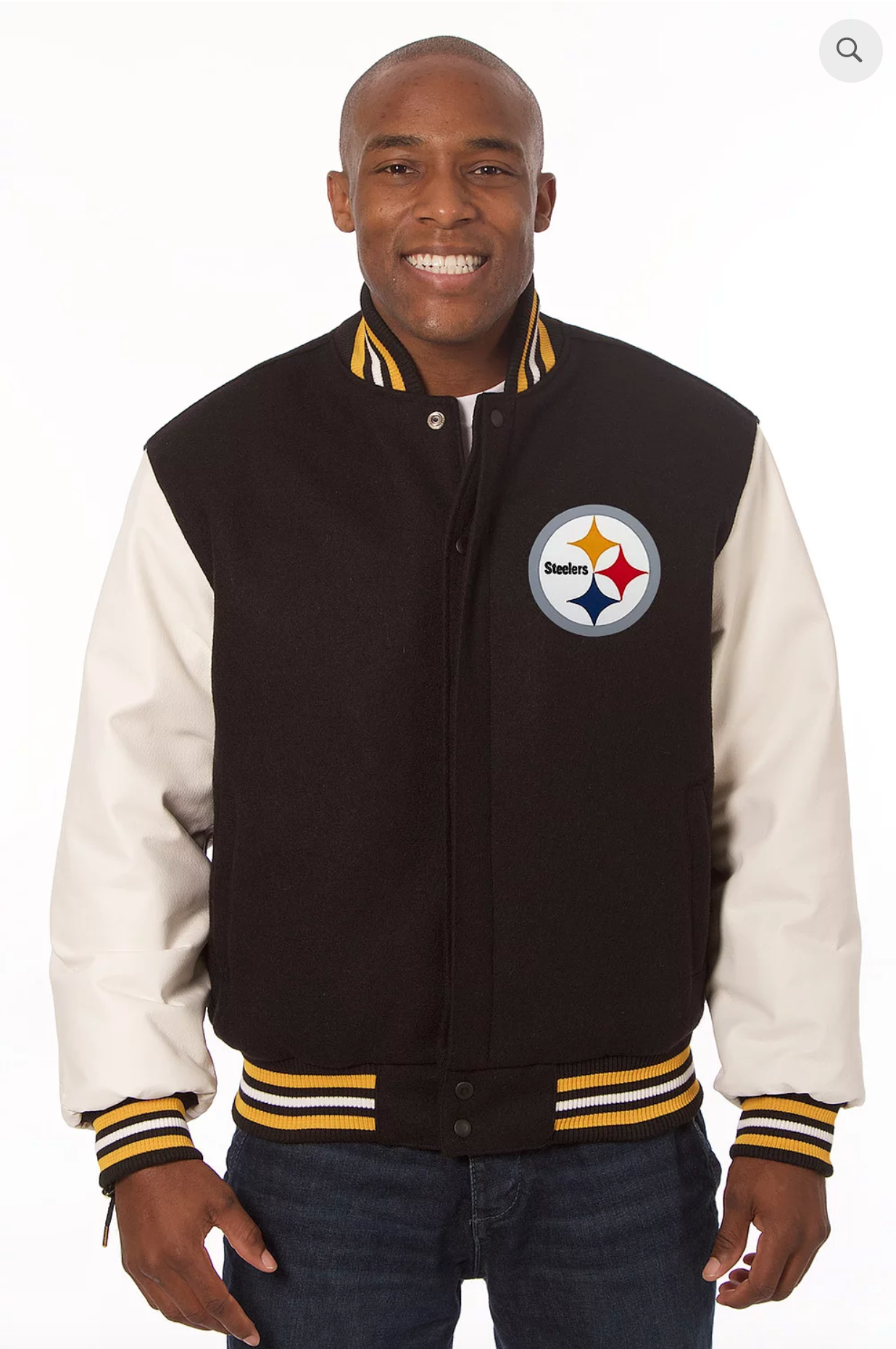 Pittsburg Steelers Wool and Leather Varsity Jacket