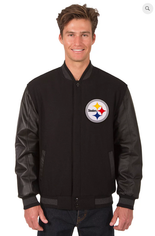 Pittsburgh Steelers Reversible Wool & Leather Varsity Jacket