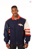 Denver Broncos Wool and Leather Classic Jacket