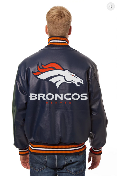 Denver Broncos Hand Crafted Solid Team Jacket