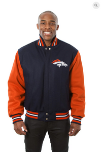 Denver Broncos All Wool Two-Toned Jacket with Back Logo