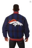 Denver Broncos All Wool Plaid Jacket with Back Logo