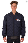 Denver Broncos Reversible Wool and Leather Varsity Jacket with Back Logo