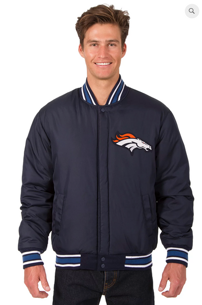Denver Broncos Reversible Wool Varsity Jacket