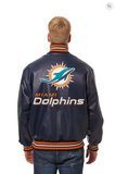 Miami Dolphins Hand Crafted Solid Leather Team Jacket