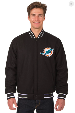 Miami Dolphins Reversible Wool Varsity Jacket