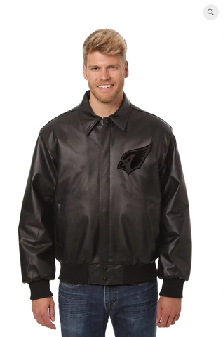 Arizona Cardinals Hand Crafted Leather Tonal Jacket