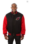 Arizona Cardinals All Wool Two-Toned Jacket with Back Logo