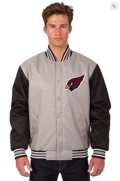 Arizona Cardinals Poly-Twill Varsity Jacket with Front Logo