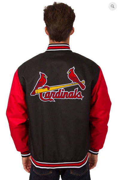 St.Louis Cardinals Poly-Twill Varsity with Front & Back Logo
