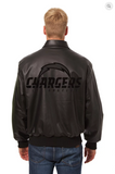 Los Angeles Chargers Hand Crafted Leather Tonal Jacket