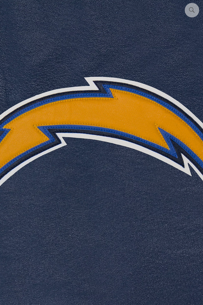 Los Angeles Chargers Hand Crafted Leather Solid Team Jacket