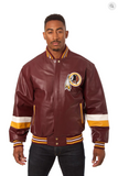 Washington Redskins Hand Crafted Leather Team Jacket