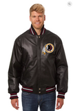 Washington Redskins Hand Crafted Leather Solid Team Jacket