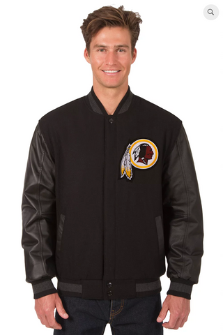 Washington Redskins Reversible Wool & Leather Varsity Jacket