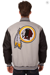 Washington Redskins Poly-Twill Varsity with Front & Back Logo
