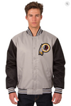 Washington Redskins Poly-Twill Varsity Jacket with Front Logo