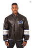 Detroit Lions Hand Crafted Leather Team Jacket