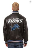 Detroit Lions Hand Crafted Leather Solid Team Jacket